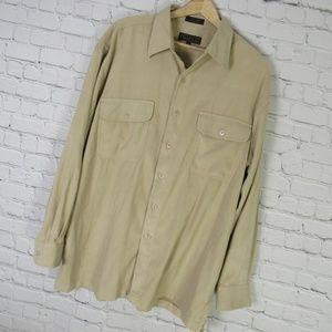 Tilley Endurables Shirt Mens Large L Brown